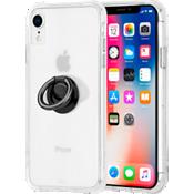 Paquete de Tough Clear y anillo negro para el iPhone XR