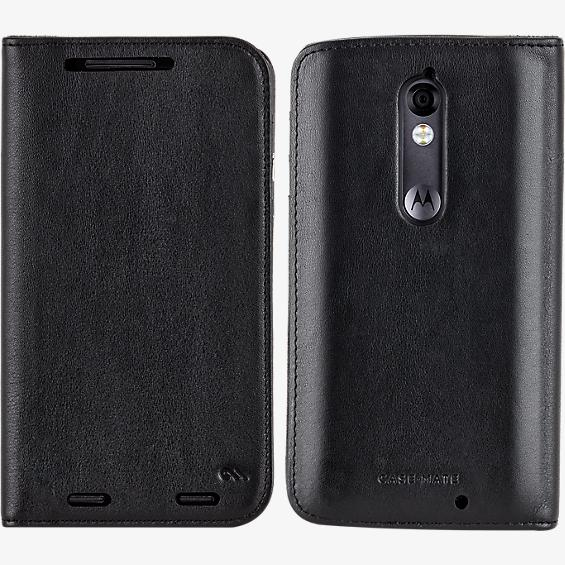 Estuche tipo billetera folio para DROID Turbo 2