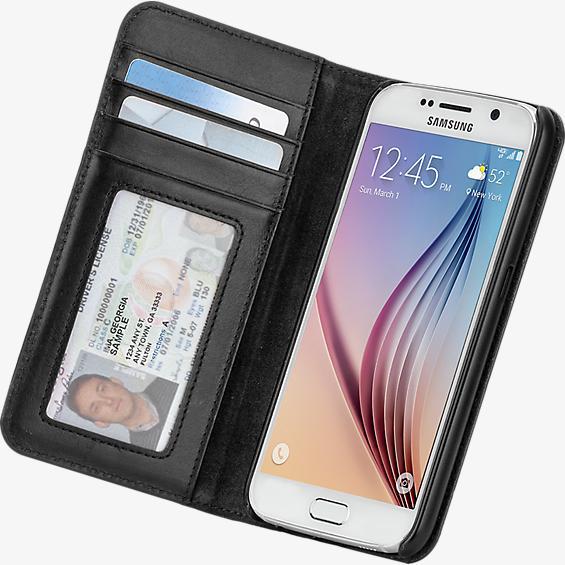 Estuche tipo billetera folio para Samsung Galaxy S 6