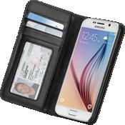 Estuche tipo billetera folio para Samsung Galaxy S 6 - Negro