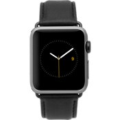 Banda de cuero exclusiva de 42 mm Apple Watch Serie 3,2,1 - Negro