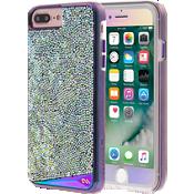 Paquete de Estuche Iridescent y protector de pantalla de vidrio para iPhone 7 Plus/6s Plus/6 Plus