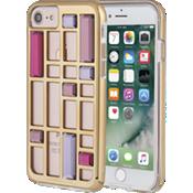 Estuche con diseño de jaula con cristales para iPhone 7 - Color oro rosa