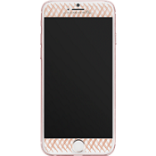 Protector de pantalla de vidrio Gilded Glass para iPhone 7 Plus - Color Rose Gold