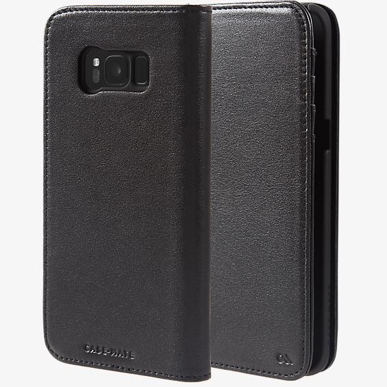 Estuche tipo billetera de piel para Galaxy S8