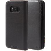 Estuche tipo billetera de piel para Galaxy S8 - Negro