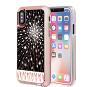 Paquete Luminescent y vidrio Gilded para iPhone X