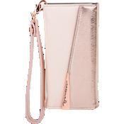 Estuche tipo folio de piel con pulsera para iPhone 7 Plus - Color Rose Gold