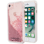 Estuche Waterfall para iPhone 8/7/6s/6 - Color Rose Gold/Transparente