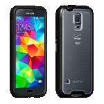 Protector Verizon transparente con borde negro para Galaxy S 5