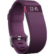 Pulsera de actividad y frecuencia cardíaca Fitbit Charge HR - Ciruela, grande
