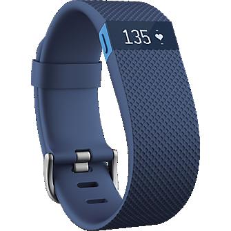 Pulsera de actividad y frecuencia cardíaca Fitbit Charge HR - Azul, grande