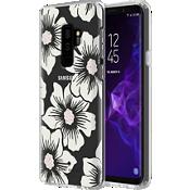 Estuche rígido flexible para el Galaxy S9+ - Color Hollyhock Floral Clear/Cream with Stones