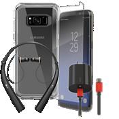 Paquete de cargador, protector y auricular OtterBox Symmetry para Galaxy S8