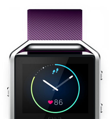 fitbit blaze how to change clock face