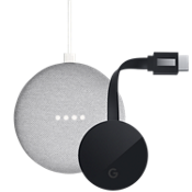 Paquete de Google Home Mini y Chromecast Ultra