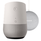 Paquete de Google Home y Home Mini