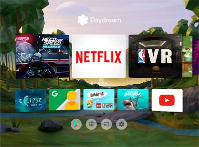 Pantalla de Google Daydream View con aplicaciones disponibles