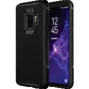 Estuche de piel genuina para el Galaxy S9 - Negro