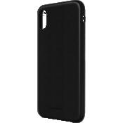 Estuche de piel genuina para iPhone X - Negro