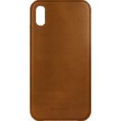 Estuche de piel genuina para iPhone X - Marrón