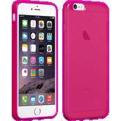 Estuche de silicona brillante para iPhone 6 Plus/6s Plus - Rosa