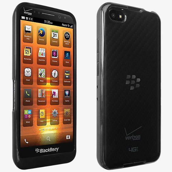 Cubierta de silicona brillante para el BlackBerry Z30 - Negro