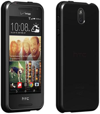 Cubierta de silicona brillante Verizon para HTC Desire 612 - Negro
