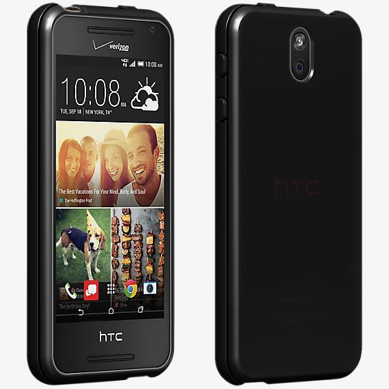 Cubierta de silicona brillante para el HTC Desire 612 - Negro
