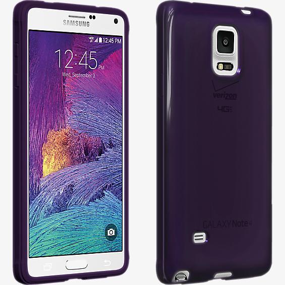 Cubierta de silicona brillante para el Samsung Galaxy Note 4