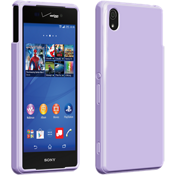 Cubierta de silicona brillante para Sony Xperia Z3v - Púrpura