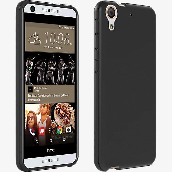 Cubierta de silicona brillante para el HTC Desire 626 - Negro