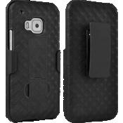 Combo de protector y funda con pie de apoyo para HTC One M9