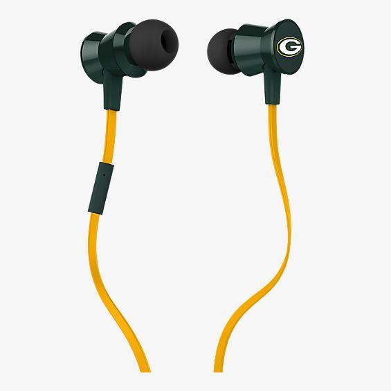 Audífono con micrófono NFL Protech Metal - Green Bay Packers