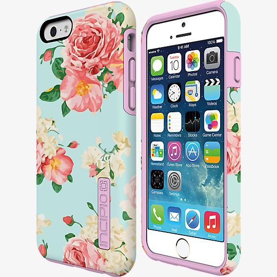 DualPro Prints para iPhone 6/6s - Verde menta con rosas
