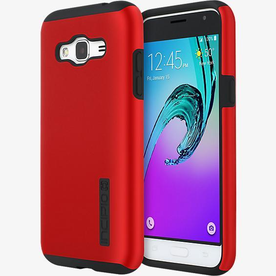 Estuche DualPro para Galaxy J3 V - Color Iridescent Red/negro