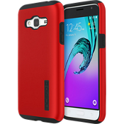 Estuche DualPro para Galaxy J3 V - Color Iridescent Red/negro