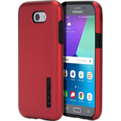 Estuche DualPro para el Galaxy J3 Eclipse - Color Iridescent Red/negro