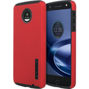 Estuche DualPro para Moto Z Force Droid - Color Iridescent Red/Negro