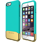 EDGE Chrome para iPhone 6/6s - Verde azulado/Dorado