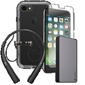 Paquete de cargador, protector y auricular LifeProof NEXT para iPhone 8/7