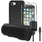 Paquete estéreo, de carga y protección OtterBox Symmetry para iPhone 8