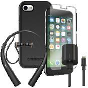 Paquete de cargador, protector y auricular OtterBox Symmetry para iPhone 8/7