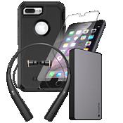 Paquete de cargador, protector y auricular OtterBox Defender para iPhone 8 Plus