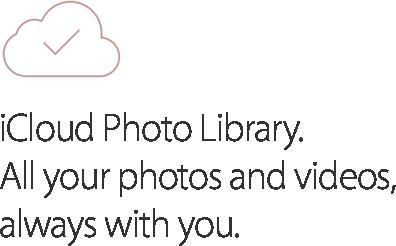 Fototeca de iCloud. Todas tus fotos y videos, siempre contigo.