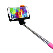 Bastón Bluetooth para selfies iPlanet - Rosa