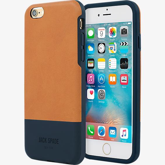 Estuche con bloques de color para iPhone 6 Plus/6s Plus - Fulton bronce/Azul marino