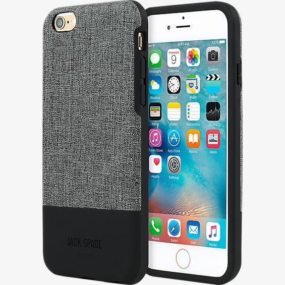 Estuche bloque de color para iPhone 6 Plus/6s Plus - Gris Oxford/Negro