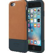 Estuche para tarjeta de crédito para iPhone 6/6s - Color Fulton Tan/Azul marino