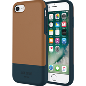 Estuche para tarjeta de crédito para iPhone 7 - Color Fulton Tan/Azul marino